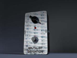 Brutalist distortion pedal_2